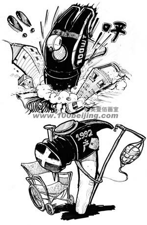 北京画室北京服装学院创意速写-清美壹佰-清美培训-北京美术班-清美
